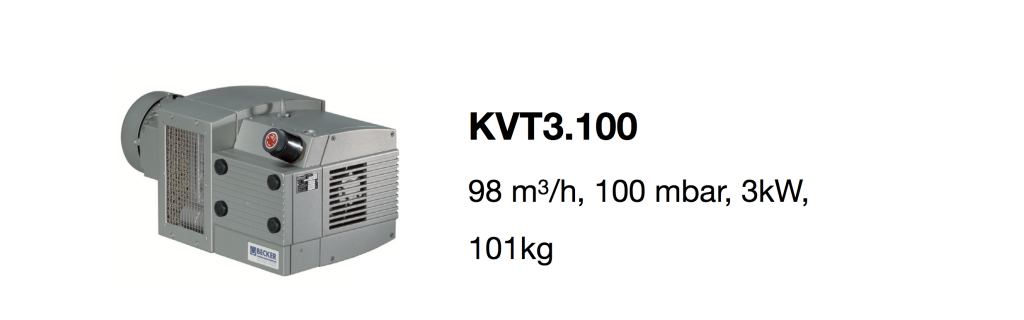 KVT3.100 all-growth.com oil-free pump page
