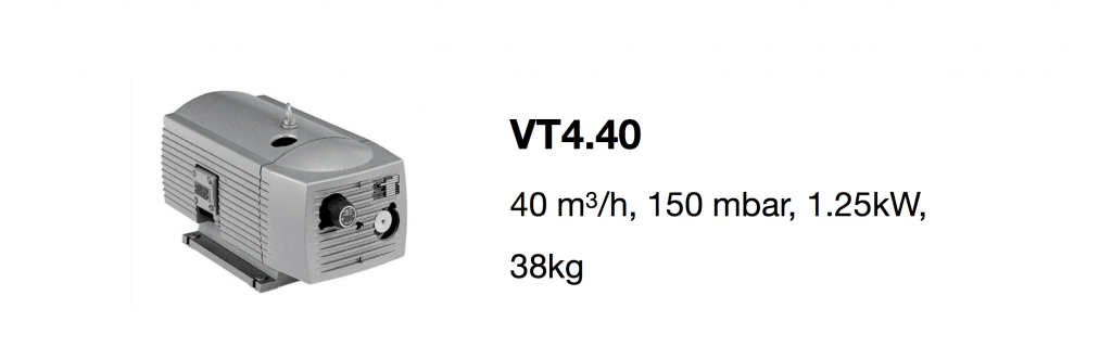 VT4.40 all-growth.com oil-free pump page
