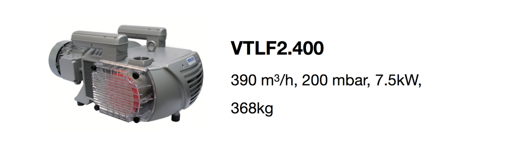 VTLF2.400 all-growth.com oil-free pump page
