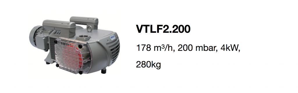 VTLF2.200 all-growth.com oil-free pump page