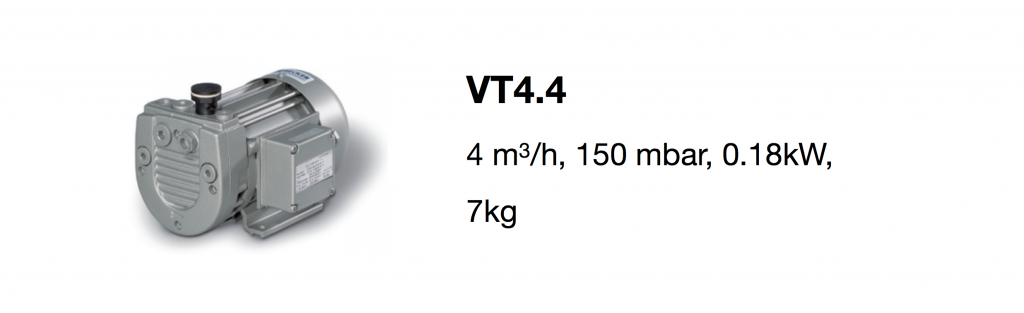 VT4.4 all-growth.com oil-free pump page