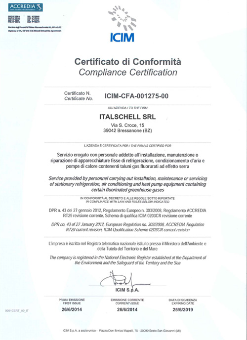 F-GAS认证