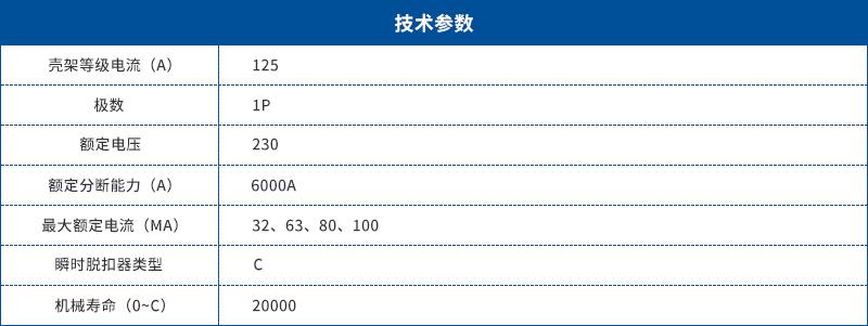 SFQ8-125智能空开单P带漏保