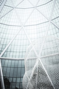 low angle photography of glass building 玻璃建筑的低角度摄影