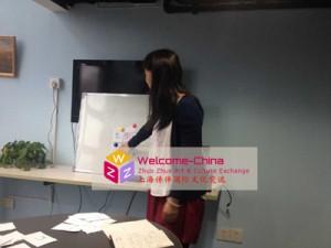 赴韩国汉语教师 - 黄老师在培训中