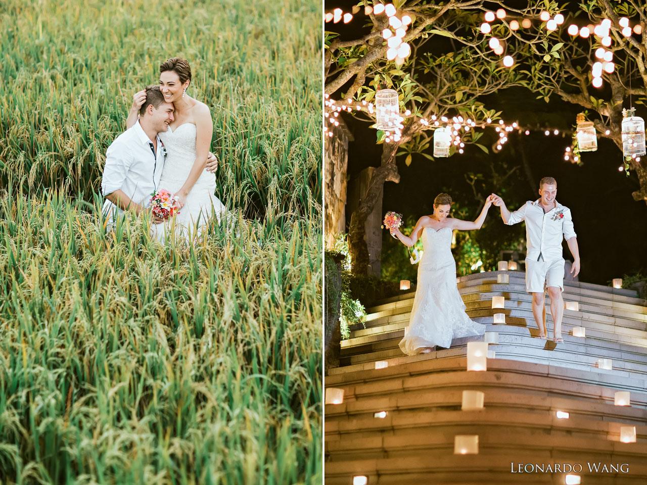 巴厘岛婚礼摄影乌布森林婚礼Kamandalu Ubud快乐的婚礼