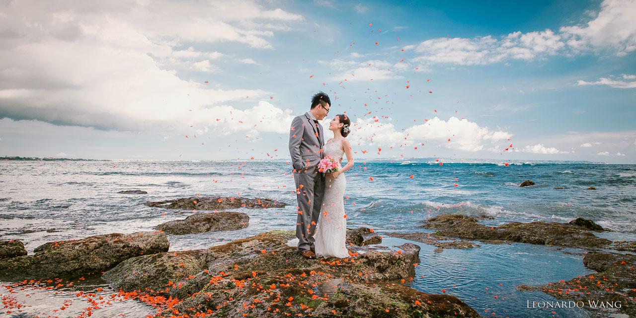 巴厘岛夕阳婚纱摄影-美好的巴厘岛情侣和个人写真