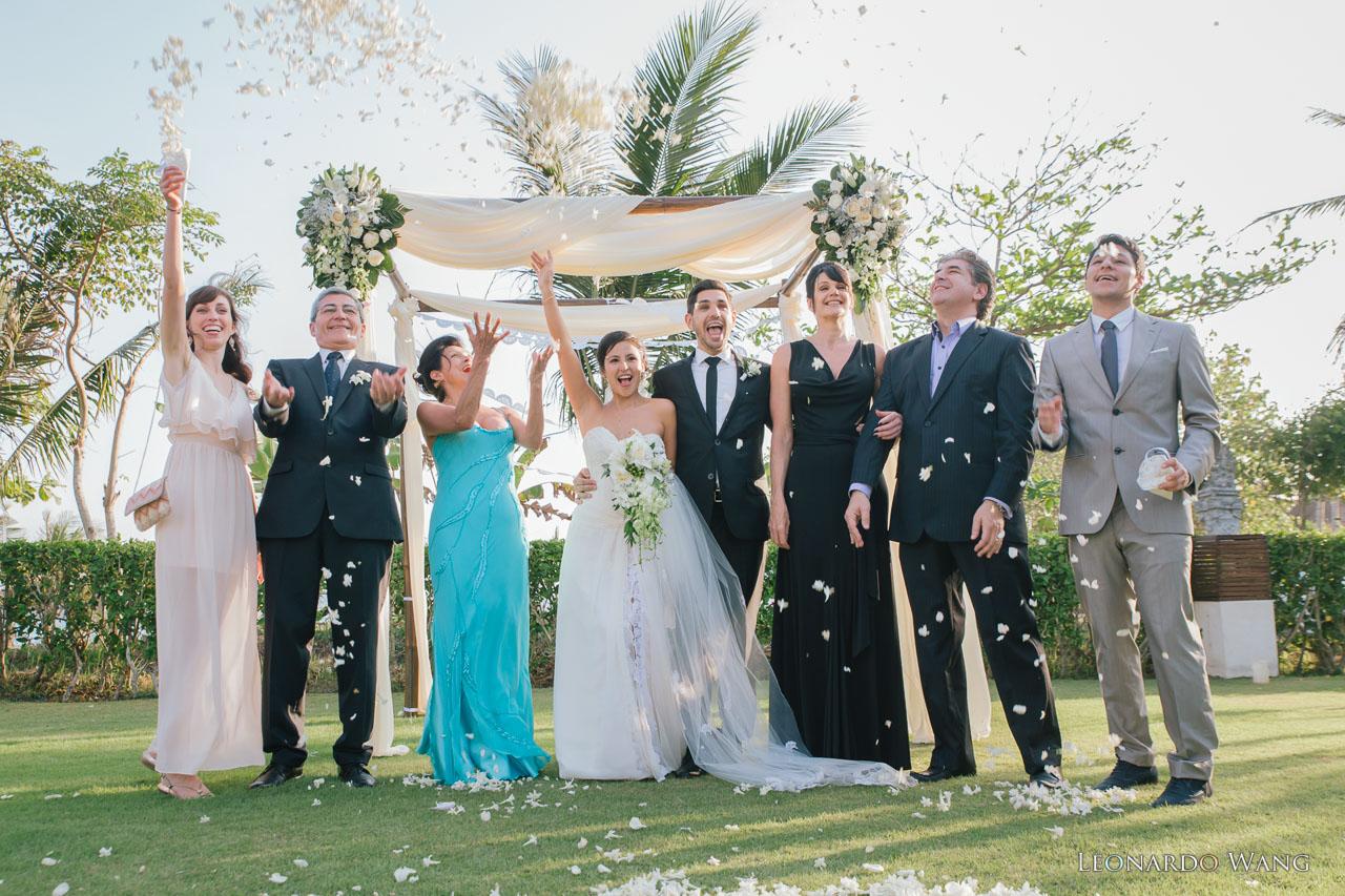 巴厘岛婚礼Villa Shalimar海神庙区欢乐的私人别墅婚礼