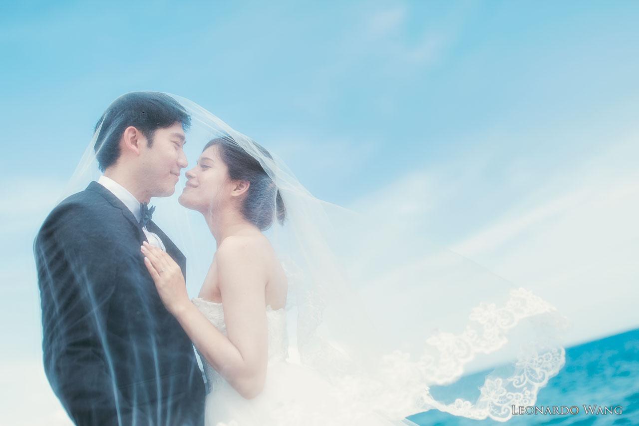 迷人的巴厘岛婚纱摄影-比利时华裔混血的婚纱写真
