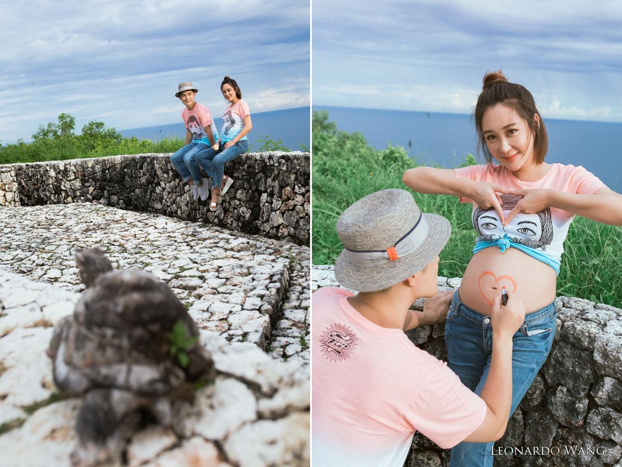 严屹宽&杜若溪-明星巴厘岛拍摄纯美自然的孕妇摄影