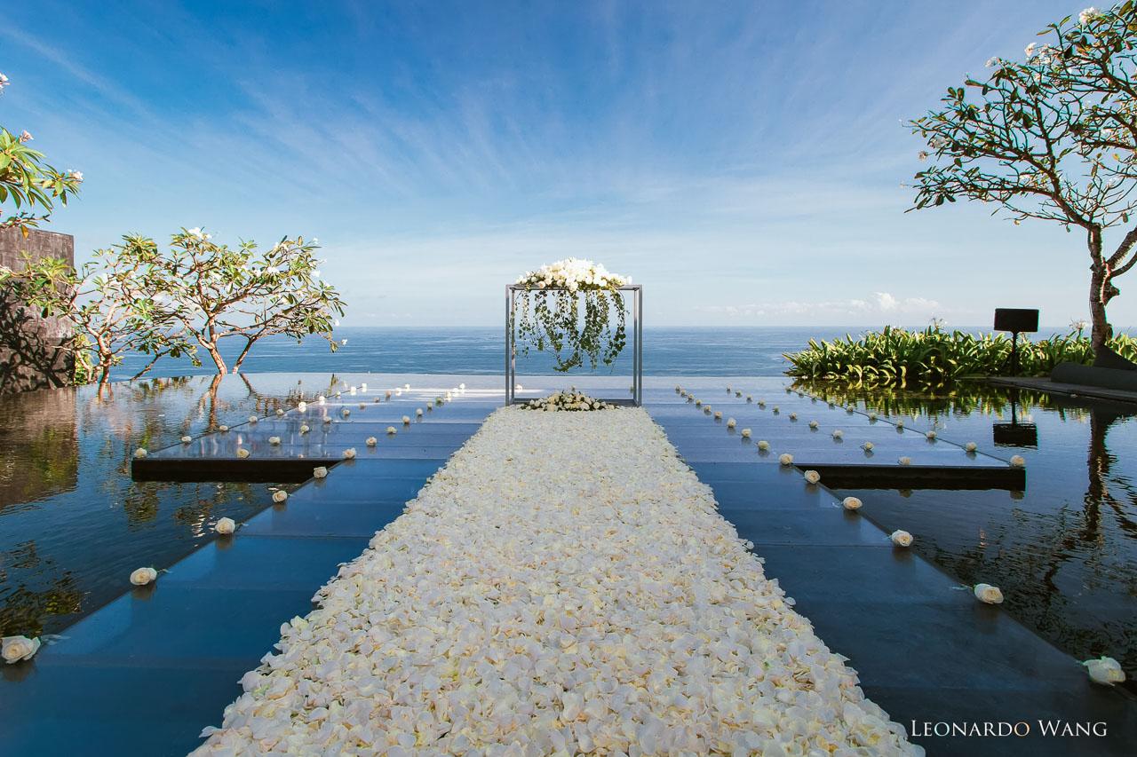 巴厘岛宝格丽水台婚礼BVLGARI宝格丽的水上婚礼