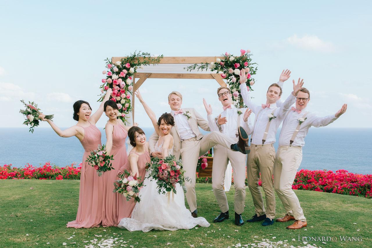 巴厘岛乌干沙别墅悬崖婚礼