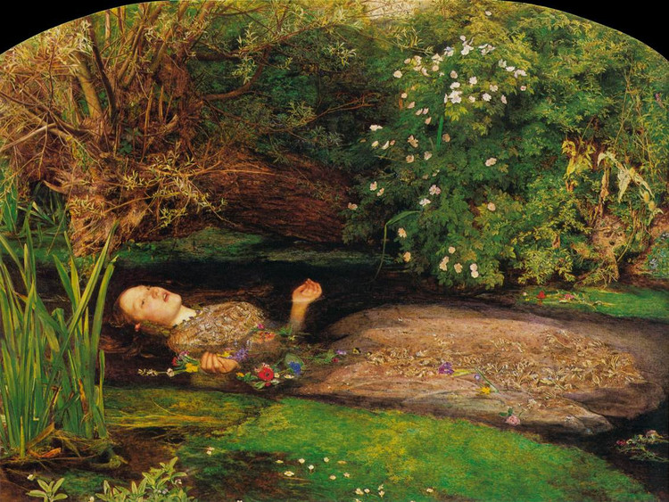 米莱斯油画代表作