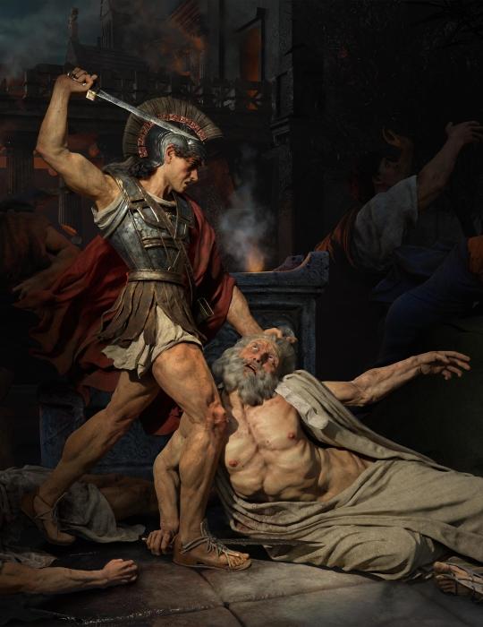 LA MORT DE PRIAM 普里阿摩斯之死