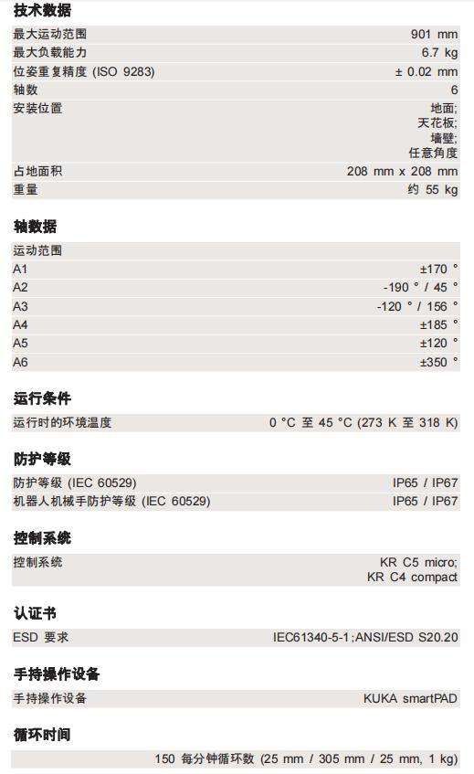 KR6  R900-2参数