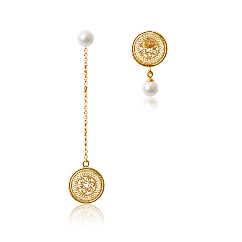 耳环1-鸳鸯金色