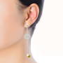 earring model3_silver gold pearl