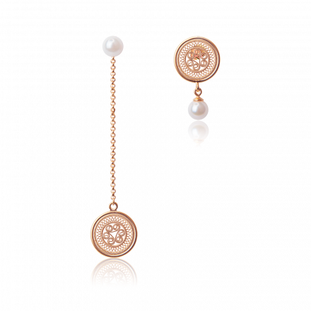 耳环1-鸳鸯玫瑰金