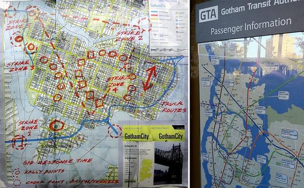 TDKR宣傳材料中展現的Gotham