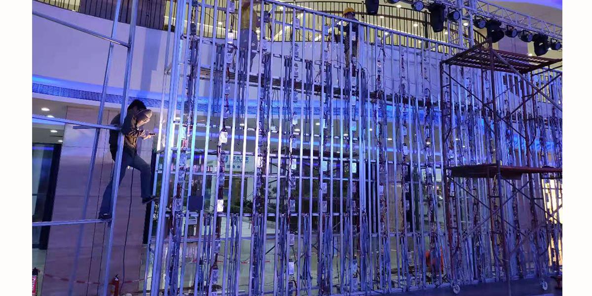 晟科光电室内p3舞台屏钢结构