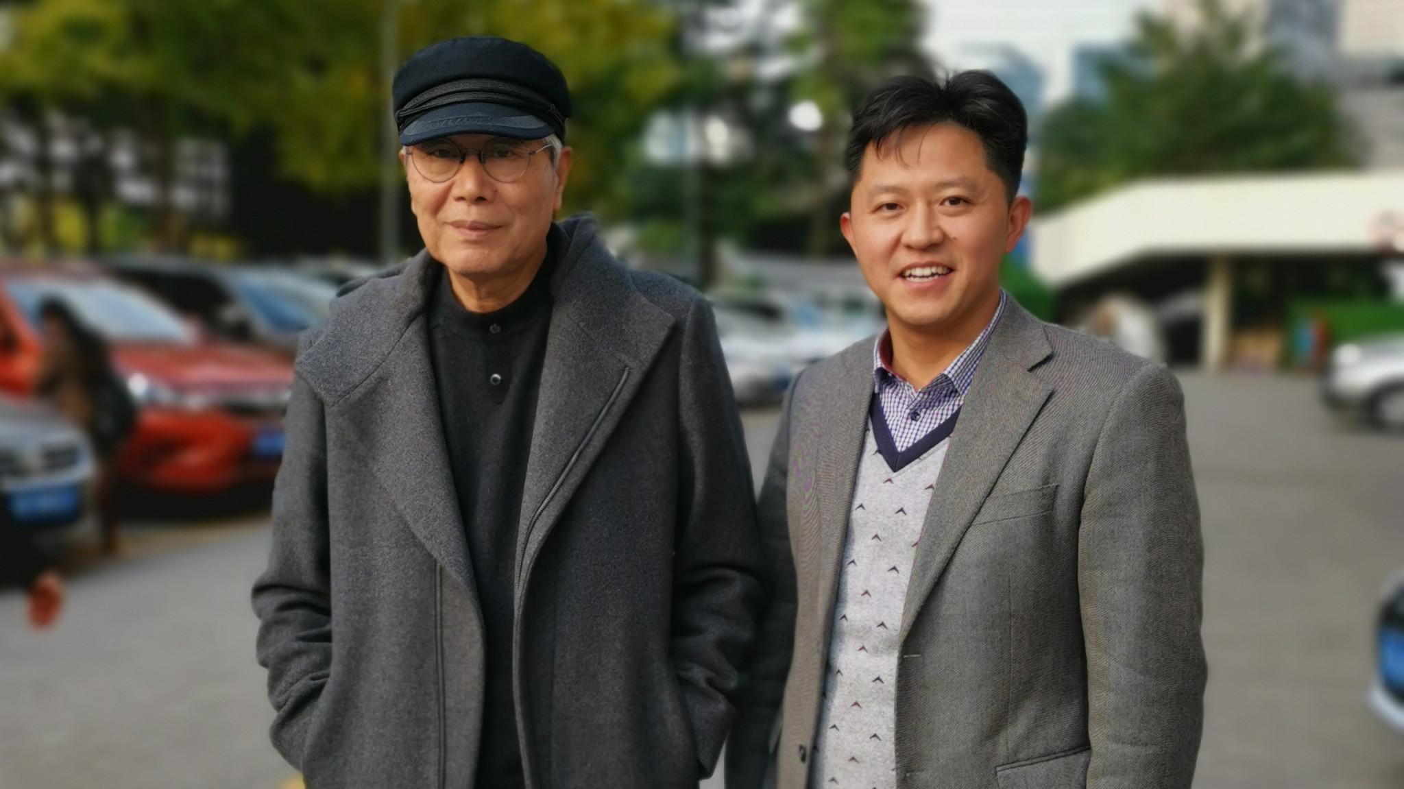 魏国锋校长与著名作曲家,中国流行音乐协会主席付林