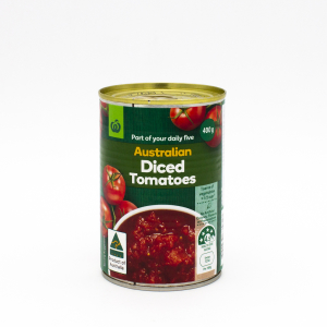 Woolworths Australian Diced Tomatoes
