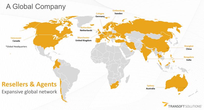 Transoft global map