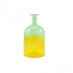 双色玻璃瓶 HD210P  two-coloured glass bottle (tall)
