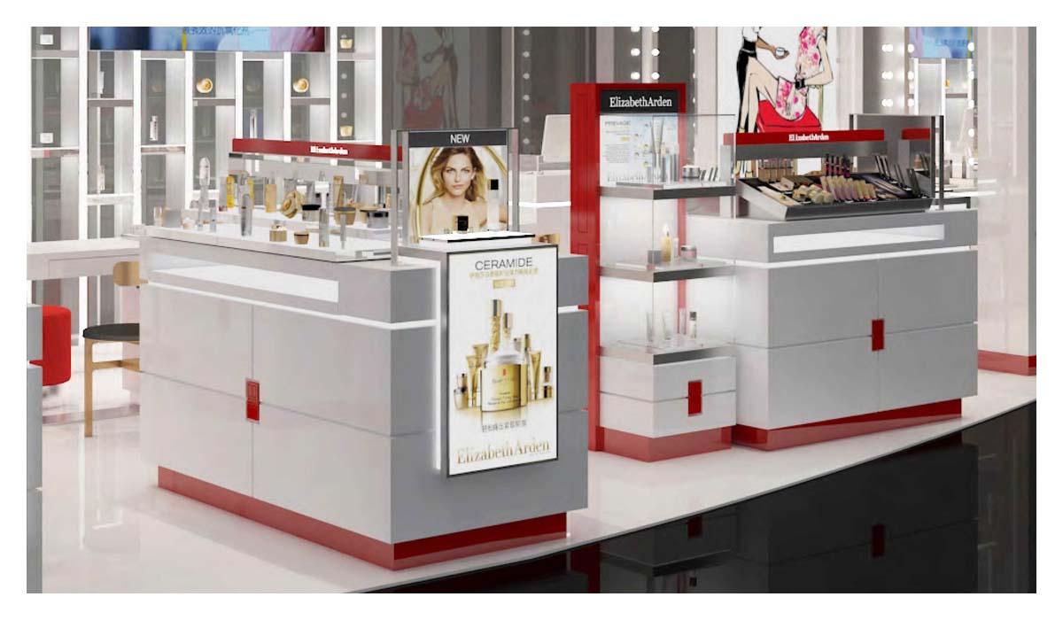 如何设计化妆品店柜台