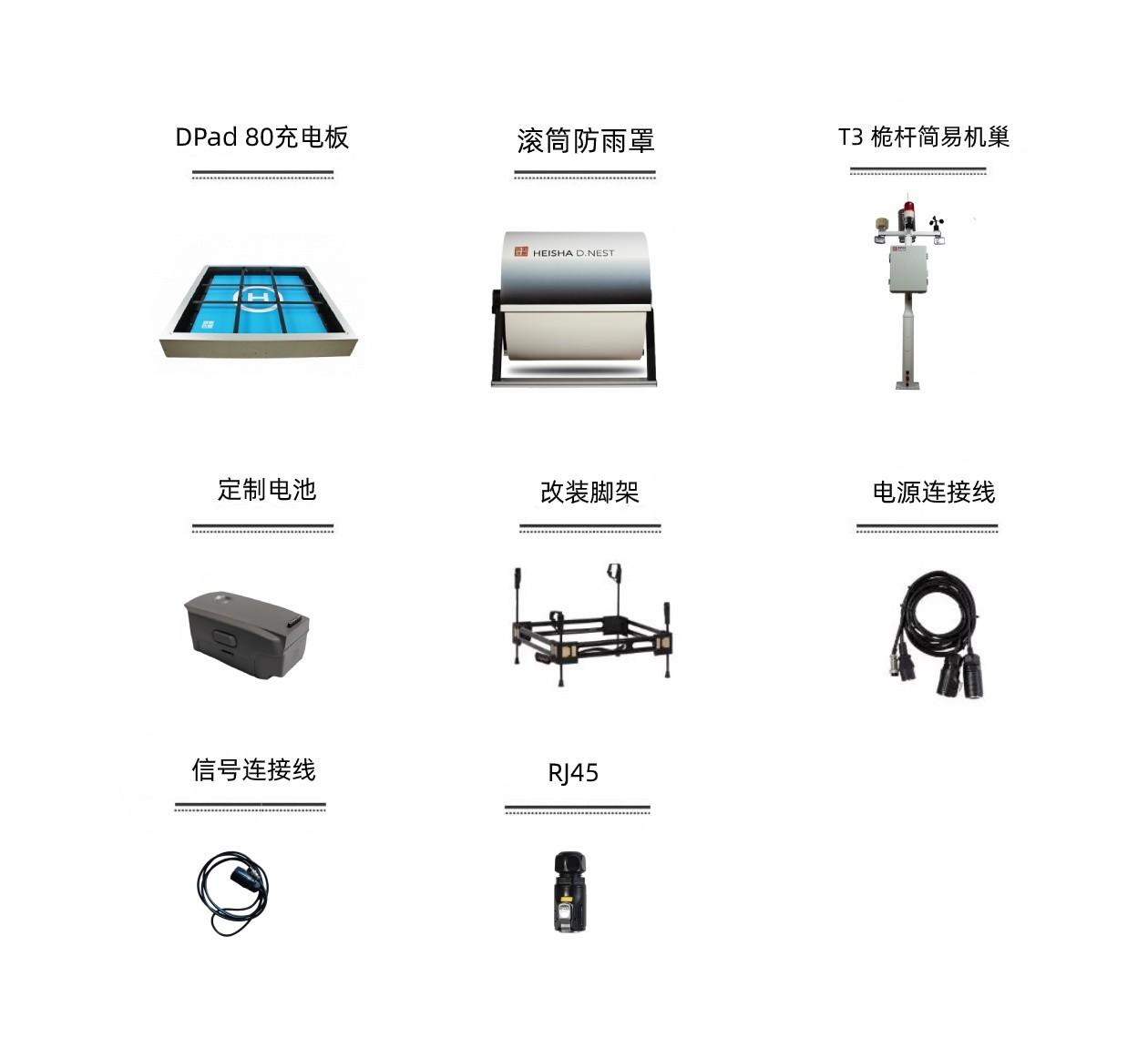 D80无人机机库装箱清单