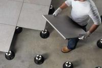 智慧通室外架空地板安装