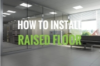 how to install raised floor