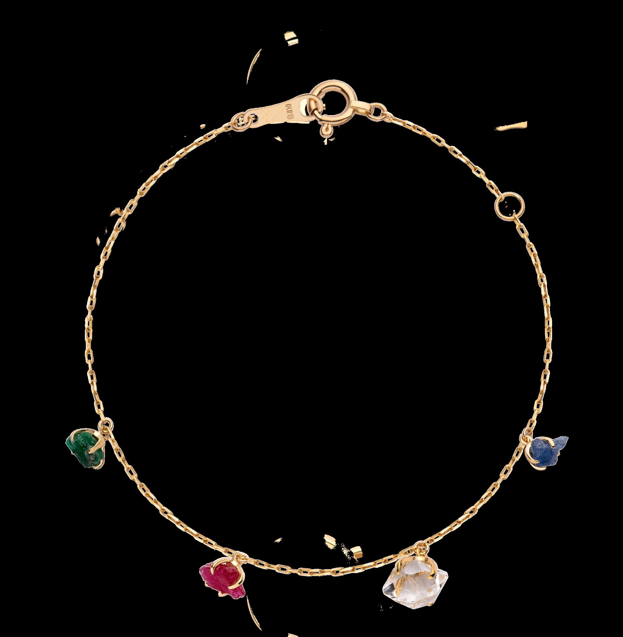 第一件珠宝 蜕变 Collection 18K黄金 彩宝手链 (原石版) 4199