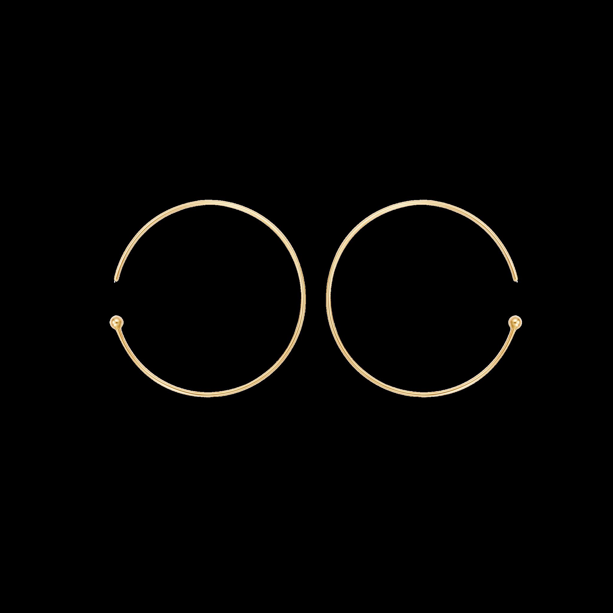 Resonance Collection 10K半圆形耳环 1299