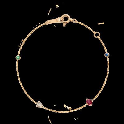 第一件珠宝 蜕变 Collection 18K黄金 彩宝手链 (切割版) 4199