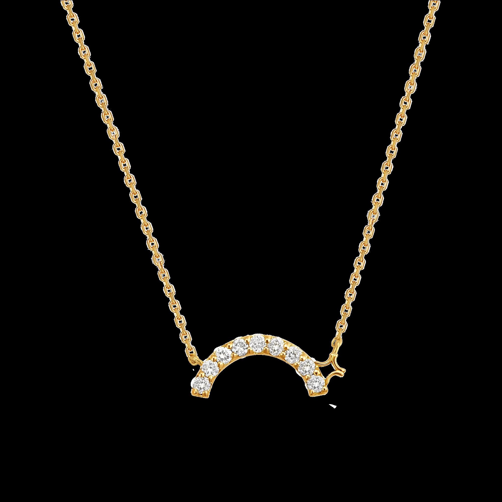 Beyond the Arc Collection 18K黄金 钻石项链-公主版 5699