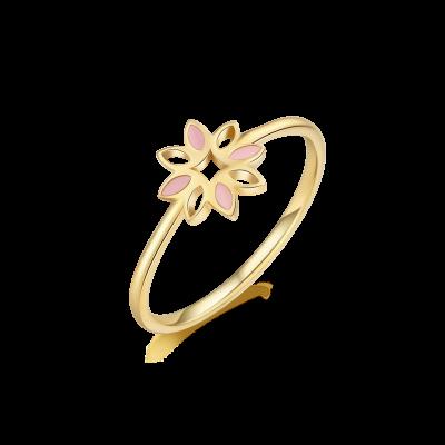 Revive Collection 18K 珐琅花儿戒指 ¥2999