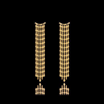 Eblouissant 18K黄金瀑布耳环(长款) 3199