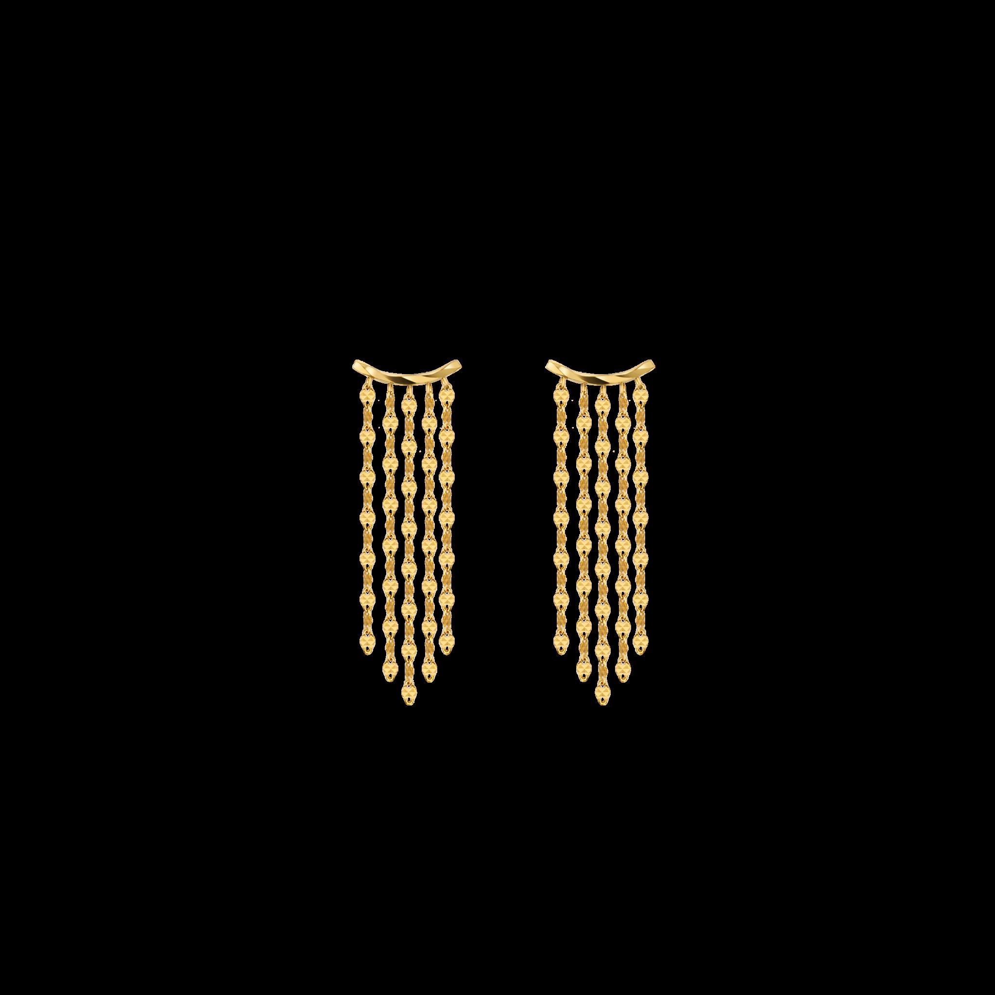 Flame Collection Eblouissant 18K黄金瀑布耳环(短款)2999