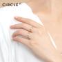 CIRCLE日本珠宝 18k金珐琅戒指自然系列花朵造型个性手饰