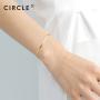 新品 CIRCLE珠宝 18K金鱼骨型简约时尚手链女 轻奢小众优雅