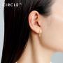 新品 CIRCLE珠宝 18K黄金轻奢鱼骨型简约耳环女 低调华丽时尚气质