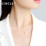 新品 CIRCLE珠宝 18K黄金鱼骨形简约锁骨链女 交叉设计高级优雅