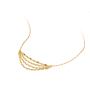 新品 CIRCLE珠宝 18K黄金多层次流苏项链女 百搭高级感颈链