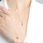 新品 CIRCLE珠宝 18K金海洋生物吊坠海星钻石镶嵌项链女颈链手链
