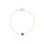 新品 CIRCLE珠宝 9K金海洋系列彩宝圆形琥珀手链女 复古臻美