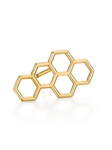 Ruche Collection 18K黄金蜂巢耳钉(单只)¥1699