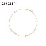 CIRCLE珠宝 新品9K金天然akoya海水珍珠手链简约时尚 朝露系列