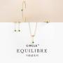 21年新品 CIRCLE珠宝 18K黄金镶嵌沙弗莱石戒指女 彩宝首饰