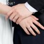 【新品】CIRCLE珠宝Bee系列铂金花舞男女对戒戒指个性